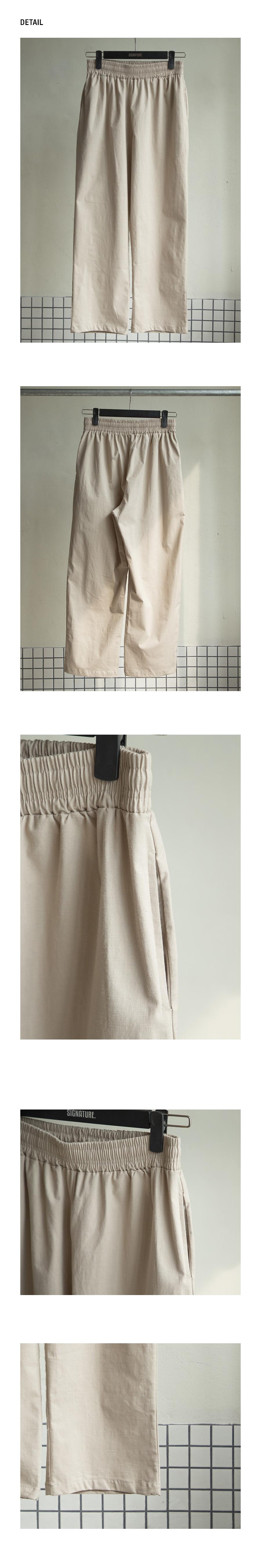 시그니처(SIGNATURE) [기획]린넨 릴렉스핏 크롭 팬츠 [네츄럴]
