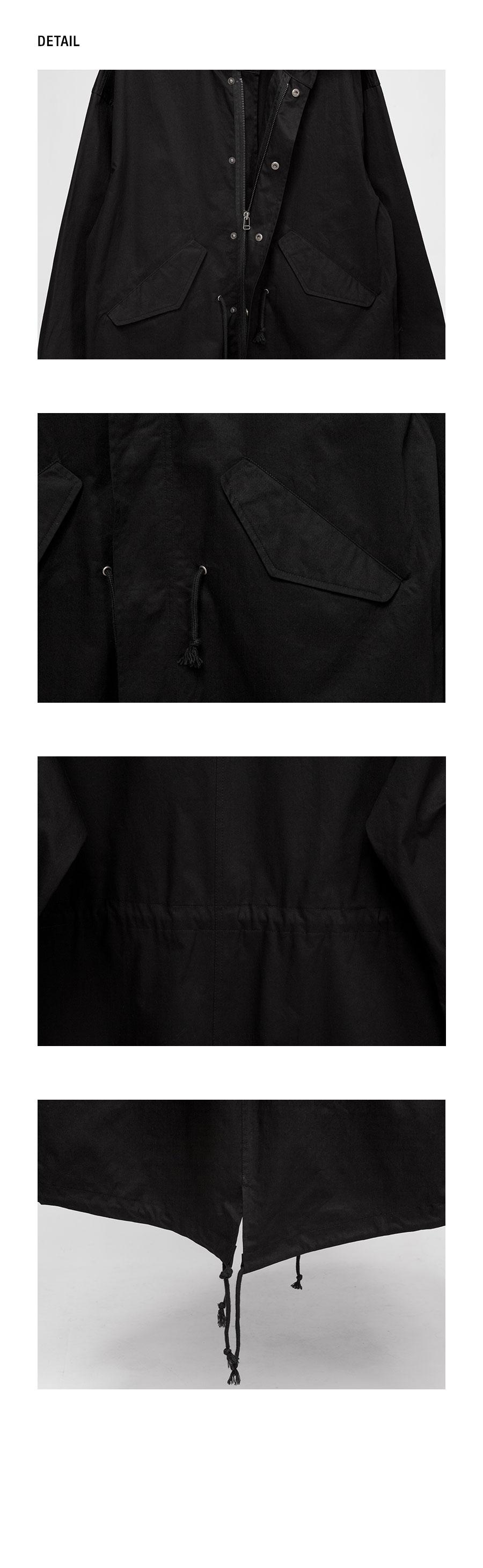 시그니처(SIGNATURE) 유니섹스 오버핏 피쉬테일[블랙]
